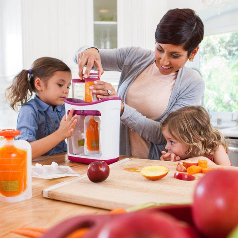 Squeeze Juice Station Baby Food Organination Storage Containers Baby Food Maker Set image on snachetto.com