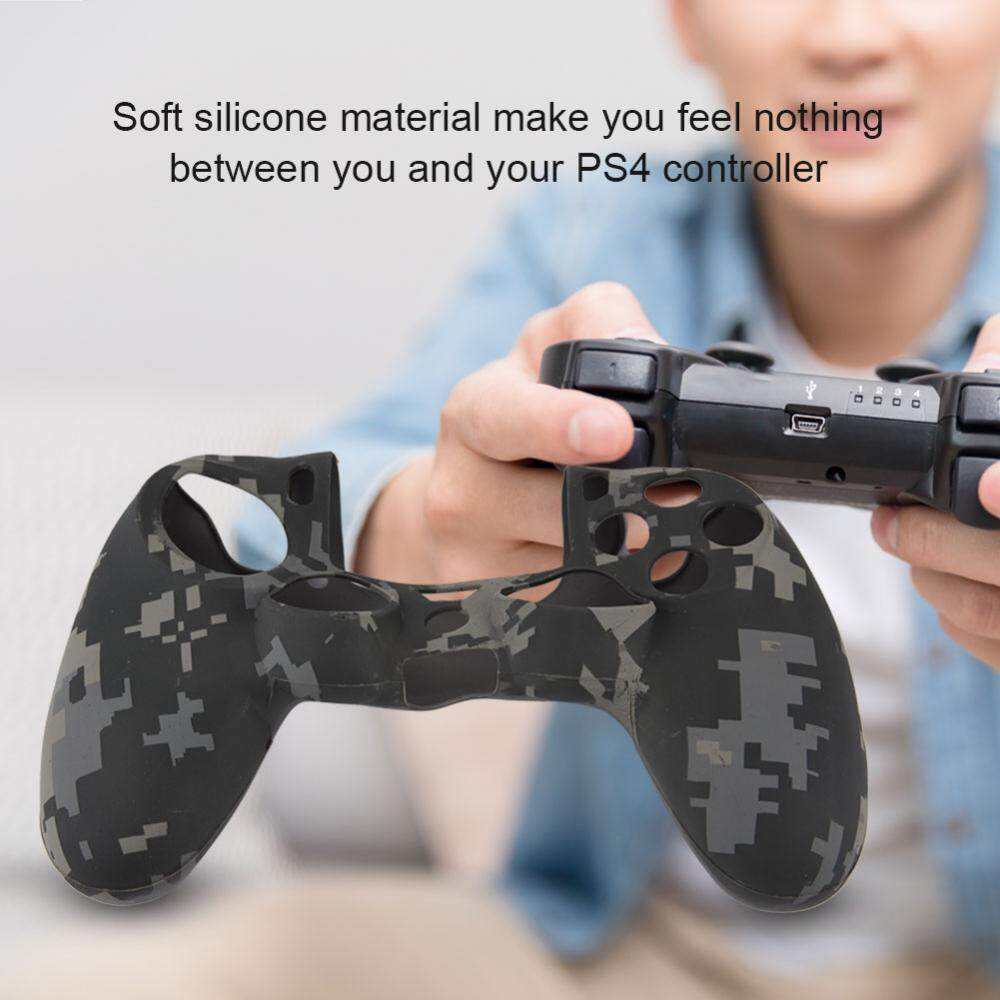 Justgogo Soft Silicone Sleeve Dustproof Case Handle Cover For PS4 Controller Gray - intl