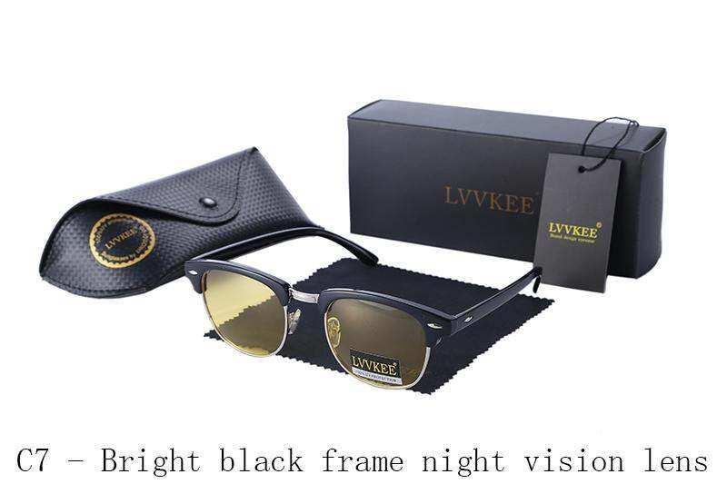 Lvvkee Hot Classic Polarized Night แว่นกันลมสายตาแว่นตากันแดดผู้ชายผู้หญิงกลางแจ้งกึ่งไม่มีขอบแว่นตากันแดด Uv400 แว่นตากันแดด By Jingui Yp.