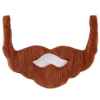 LALANG Funny Costume Fancy Party Halloween Beard Moustache Brown