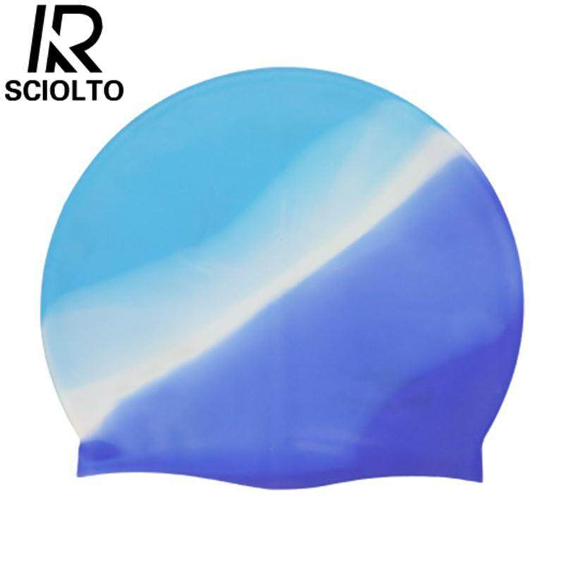 (Free Shipping for WM - Klang Valley,WM - Non Klang Valley,EM - Sabah)SCIOLTO SPORTS Adult Sports Silicone Swim Cap Flexible Durable Elasticity Elastic Swimming Hat