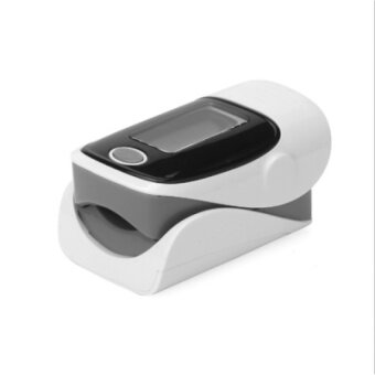 MU This Finger Pulse Oxygen Saturation Monitor Pulse Oxygen Meterheart Rate Meter Finger Oximeter - Gray