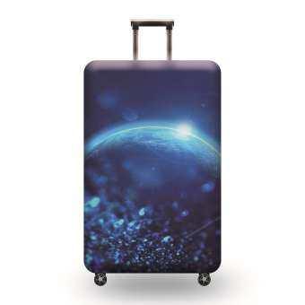 ผ้าคลุมกระเป๋าเดินทางกระเป๋าเดินทางที่หุ้มกระเป๋าเดินทางเคสป้องกันที่มีสีสันกระเป๋าเดินทางผ้ายืดฝาครอบป้องกันสำหรับ 19-32 กระเป๋าเดินทางล้อลากนิ้วปกป้องถุงหูรูดการ์ตูน TRAVEL