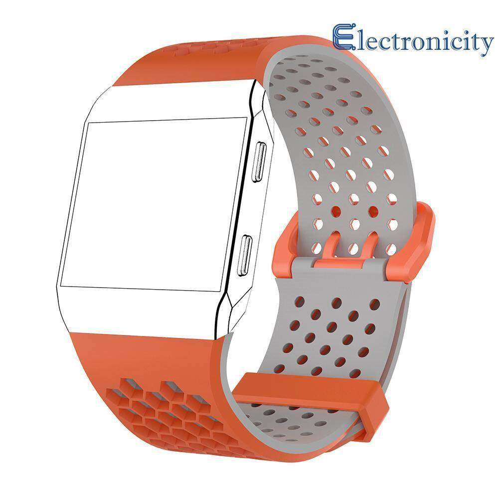 Adjustable Silicone Sport Watch Bands Bracelet   for  Fitbit Ionic Smart Watch Women S