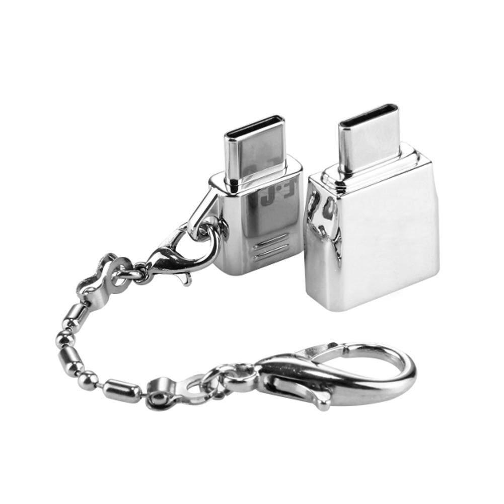 DLong Di Động Kim Loại USB Loại C Adapter Micro USB Bộ Chuyển Đổi Chuyển Đổi có Móc Khóa