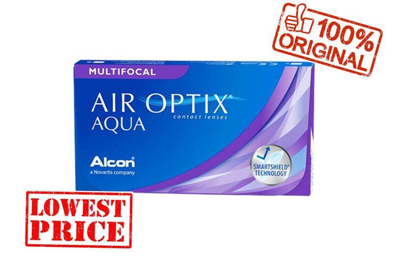 Air optix aqua multifocal free 1 pcs , silicone hydrogel monthly contact lenses
