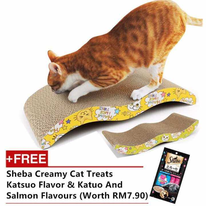 High Quality Cat Kitten Claw Scratching Board Pad (FREE CAT MINT)