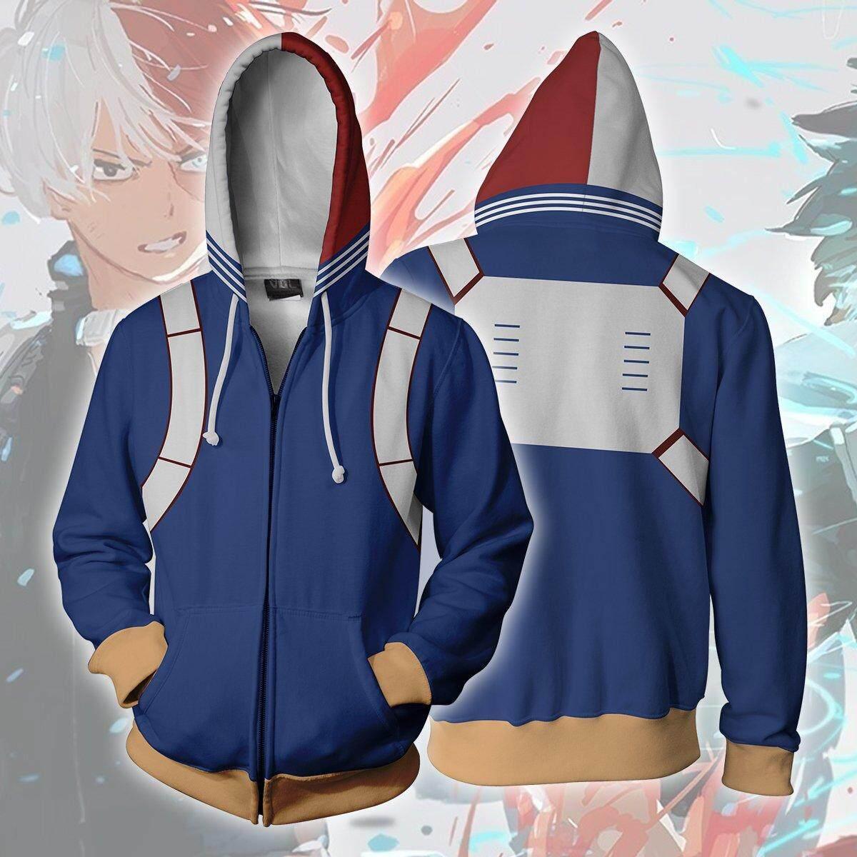 45c6e5bd8 My Hero Academia Shoto Shouto Todoroki Battle Suit Cosplay Costume Hoodie  Sweatshirt Zipper Jacket Coat