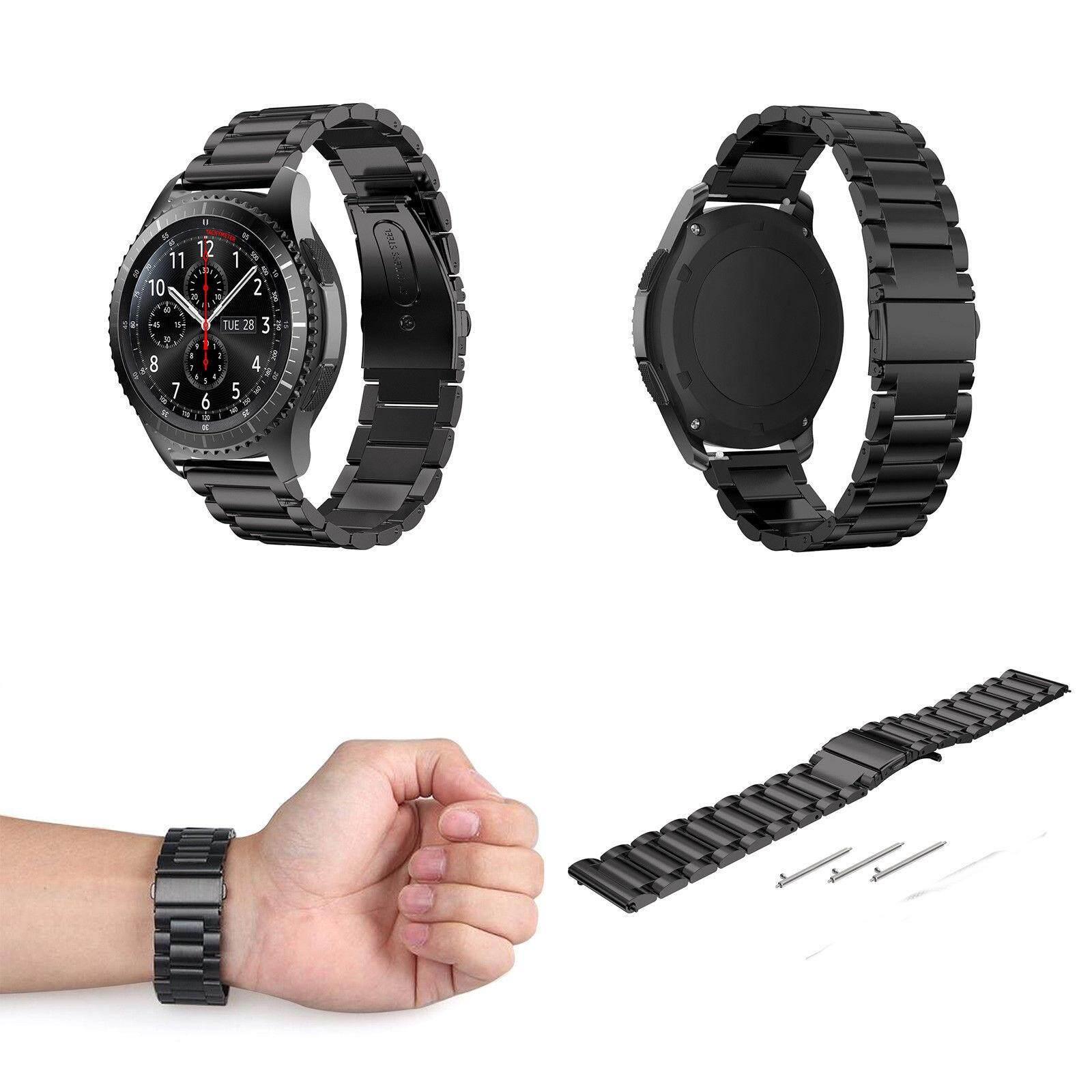 Yunmiao 22 Mét Thép không gỉ Vòng Tay Dây Đeo cho Samsung Gear S3 Biên Cương/S3 Cổ Điển Dây Đồng Hồ