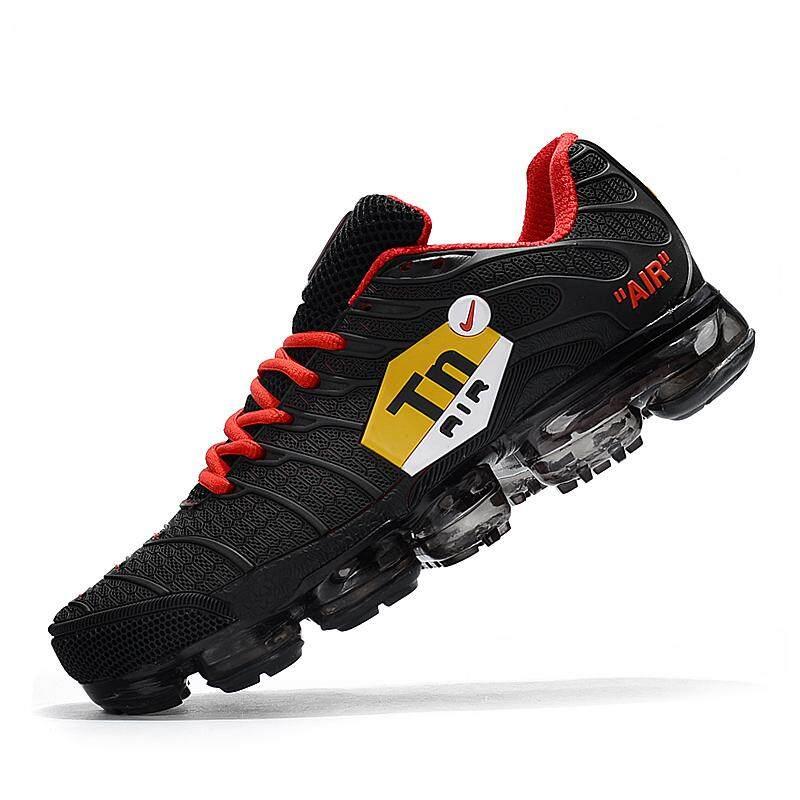 2018 Nike Air VaporMax Men's Running Shoe Fashion Casual Sneakers (Black/Red)