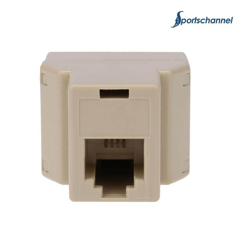 Professional 1 to 2 RJ11 Female Telephone Wire Splitter Converter Adapter Wire Connector - intl