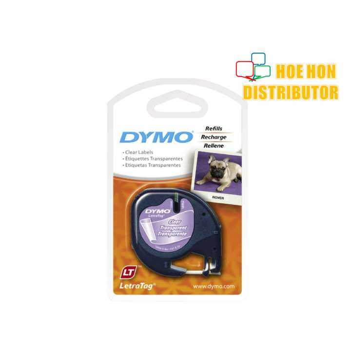 Dymo Letratag Label Maker Tape Refill Plastic Clear 12mm X