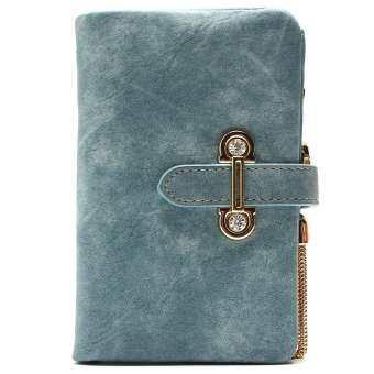 ร้อน!! 2018 แฟชั่นใหม่ผู้หญิงกระเป๋าสตางค์สายหนัง Nubuck หนังกระเป๋าสตางค์แบบมีซิปผู้หญิงสั้นกระเป๋าสตางค์ดีไซน์ Retro กระเป๋าถือพู่-
