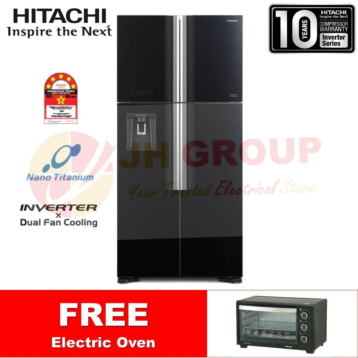 (LATEST MODEL 2018)HITACHI 586L Big French Standard Series R-W720P7M gbk*FREE ELECTRIC OVEN