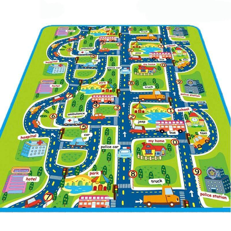 Amart 160 X 130cm Children Baby Kids Non Slip Waterproof Educational Toys City Road Carpets Rug Puzzle Play Mat Rugs Developing Gifts For Indoor Outdoor Use Intl Lazada Ph