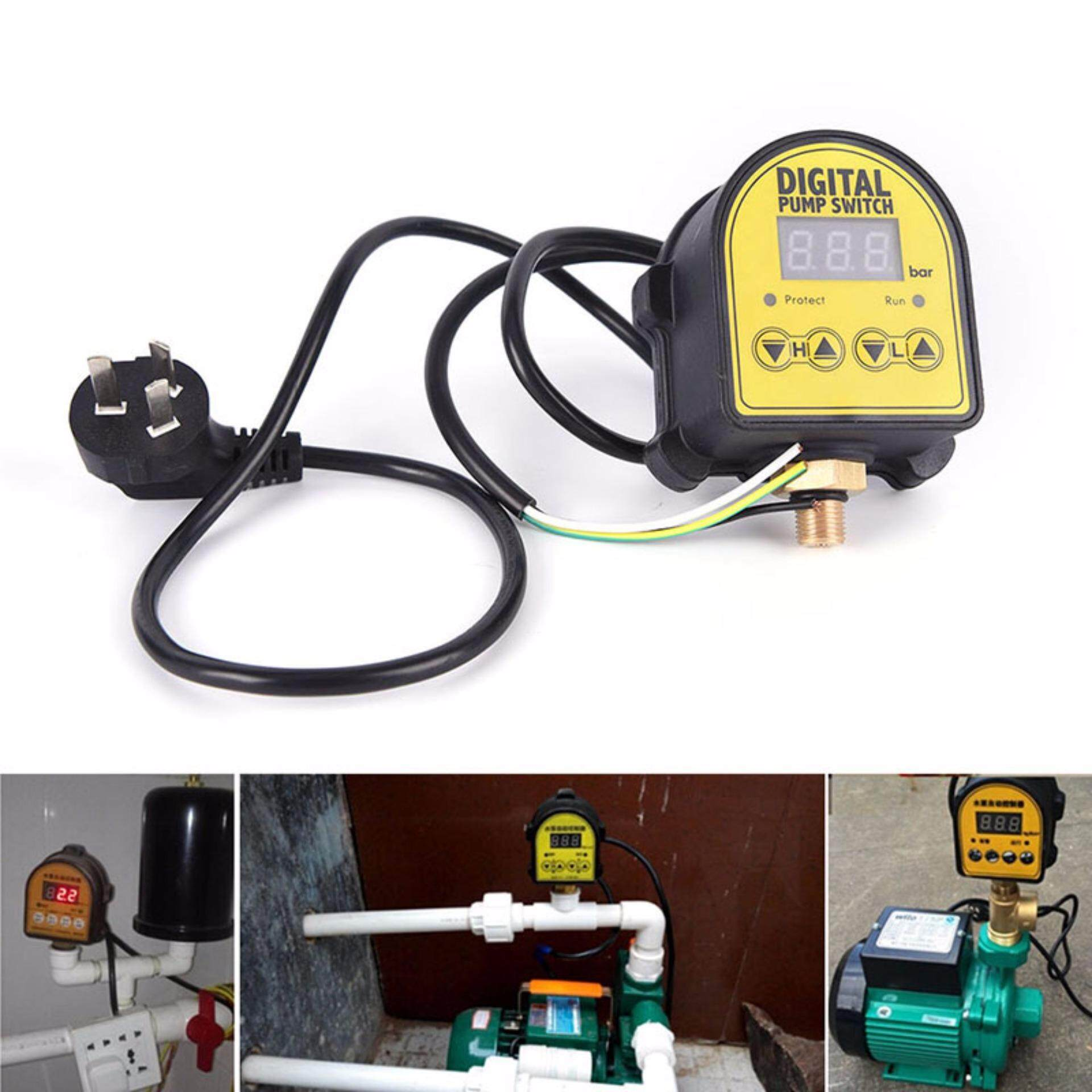 Automatic Digital Pressure Controller ON OFF Switch 220V For Water Ail Gas