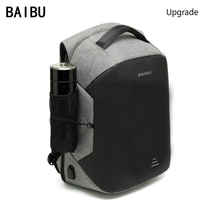 f1b27476705c Baibu 15.6 Laptop Backpack Anti Theft Backpack With Usb Charging Men School  Notebook Bag Oxford Waterproof Travel Backpack