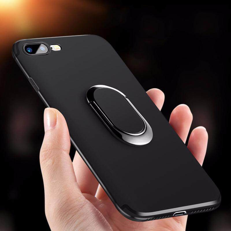 buy online 9268b c8722 iPhone 7 Plus Case, iPhone 8 Plus Case, Luxury Metal Ring Holder Magnetic  Absorption Cover Phone Casing