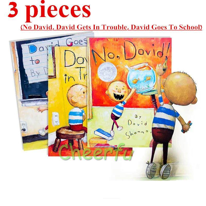 3 Styles Books No David, David Gets In Trouble, David Goes To School By David Shannon English Version Picture Book for Children Toy Gift - intl