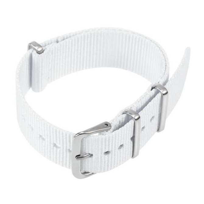 Nylon Watch Strap Replacement Heavy Duty Watch Bands Woven Wristband Strap 18mm (White) Malaysia
