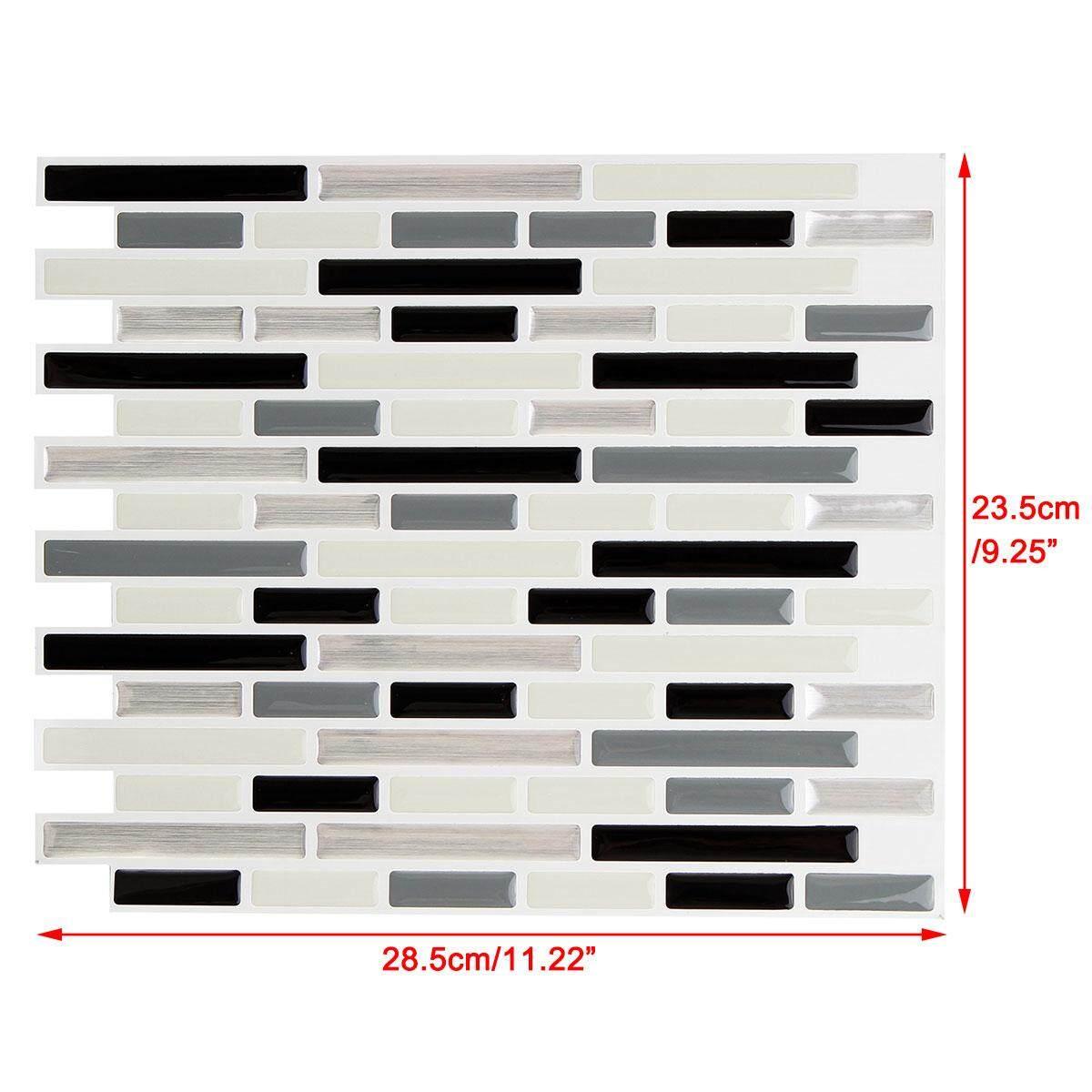 【Flash Deal】Gray Home Decor Brick Mosaic Kitchen Bathroom Foil Beauty 3D Wallpaper Sticker Tile