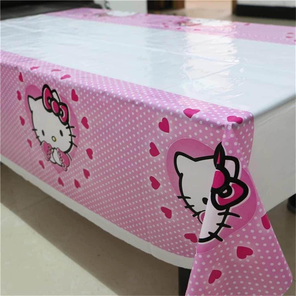 Unicorn Hello Kitty Table Cloth Plastic Table Cover for Birthday Party