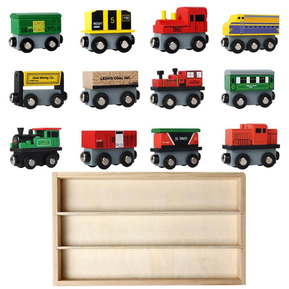 Wonderful Toy 12 Pcs Wooden Train Set Train Toys Magnetic Set Toy For Kids Toddler Boys Girls Early Teaching Tool Style12 Pcs Toys1wooden Box