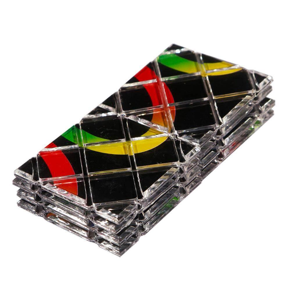 SY LingAo 8 Panels 3 Rings Black Magic Folding Puzzle Cube Twisty