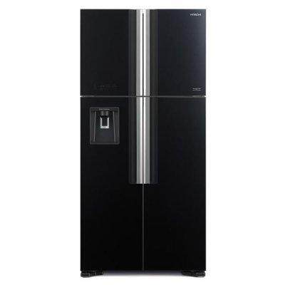 (only delivery within KLANG VALLEY) HITACHI R-W720P7M 586L 4 GLASS DOOR BIG FRENCH REFRIGERATOR *REPLACES R-W720P3M