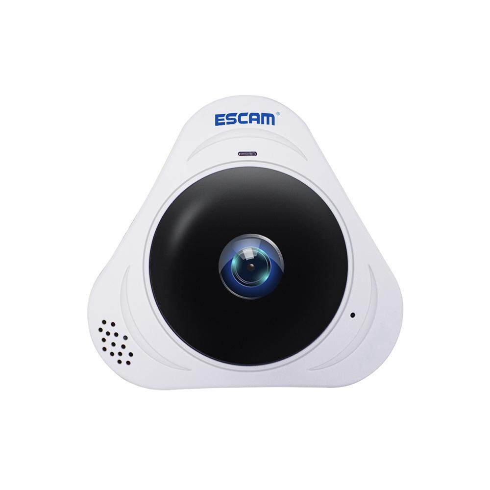 iooiopo US PLUG ESCAM Q8 360 Rotating Home Security IP Camera Webcam Fisheye HD 960P Internet IR Night Vision Wifi Office Monitor - intl