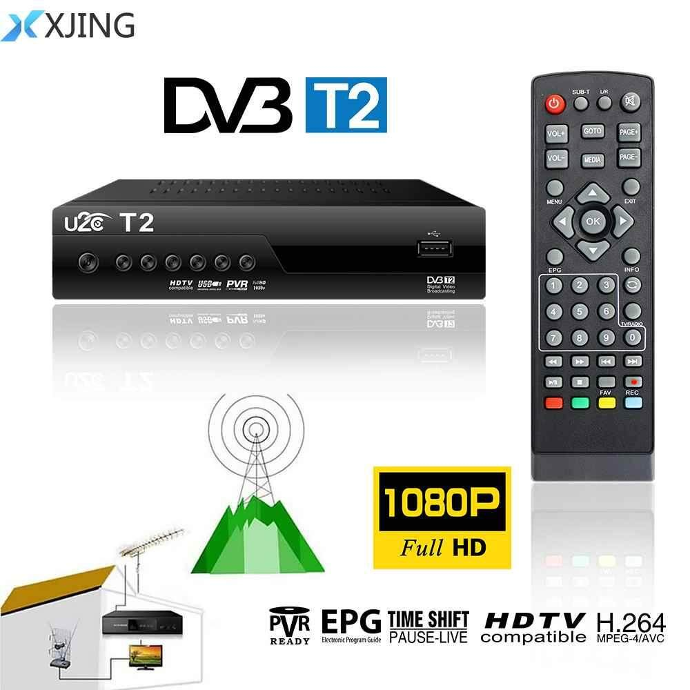 XJING DVB-T Smart TV Box HDMI DVB-T2 T2 STB H.264 HD TV Digital Terrestrial Receiver DVB T/T2 Set-top Boxes