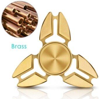 Huremwp Hand Spinner Triangle Torqbar Brass Toy EDC Autism Finger Focus ADHD