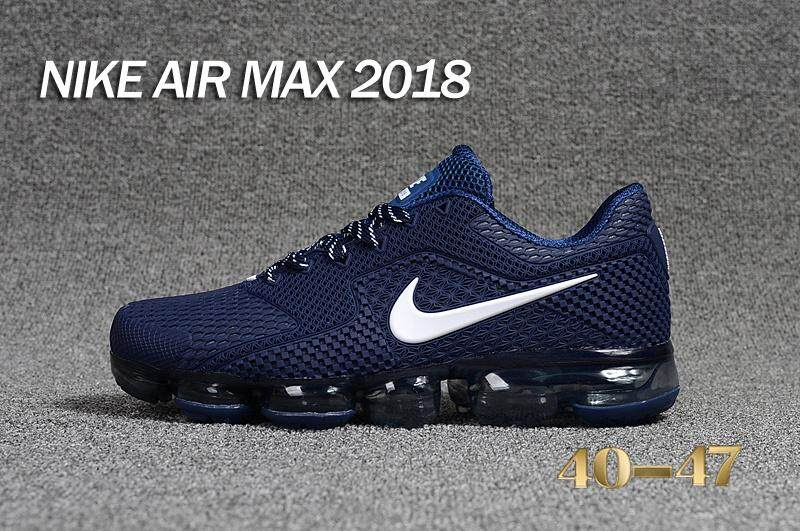 Nike Air VaporMax 2018 Men s Running Shoe Breathable Sports Sneakers (Dark  ... bda89a6f5