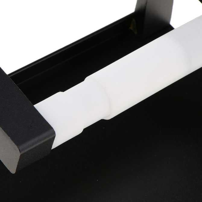 ... BolehDeals Bathroom Toilet Paper Holder with Shelf Rack Tissue Roller Phone Storage Black ...