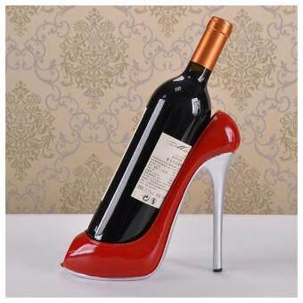 Resin Holder Heels Ornaments Gift High Decoration Wine Home Furnishing Creative Bottle Rack red Shoe m8nN0wvO
