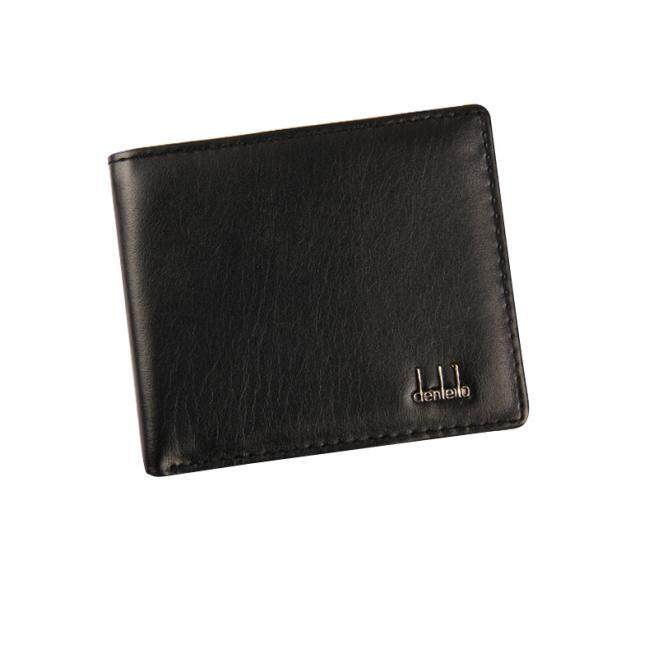 MENS LEATHER WALLET BLACK BIFOLD QUALITY REAL CREDIT CARD HOLDER PURSE GIFT