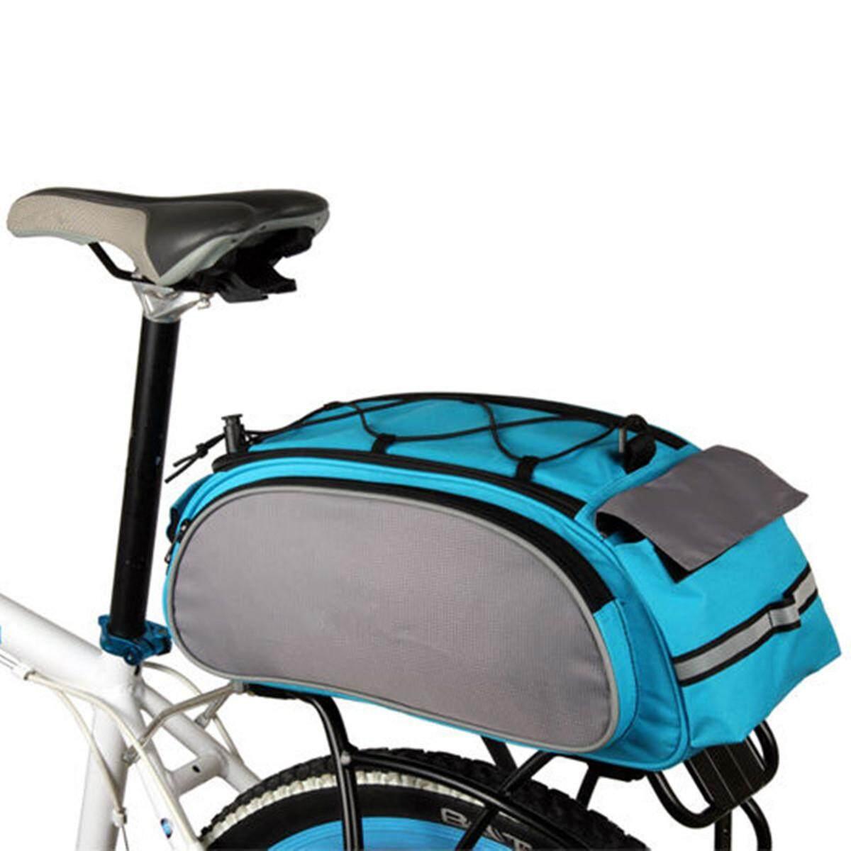 Cycling Bicycle Storage Handbag Pannier Saddle Rack Rear Shoulder Seat Black Bag