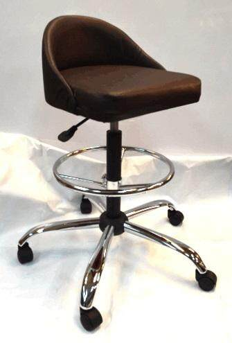 Bar stool with backrest-adjustable height from 55H-87H cm  metal leg