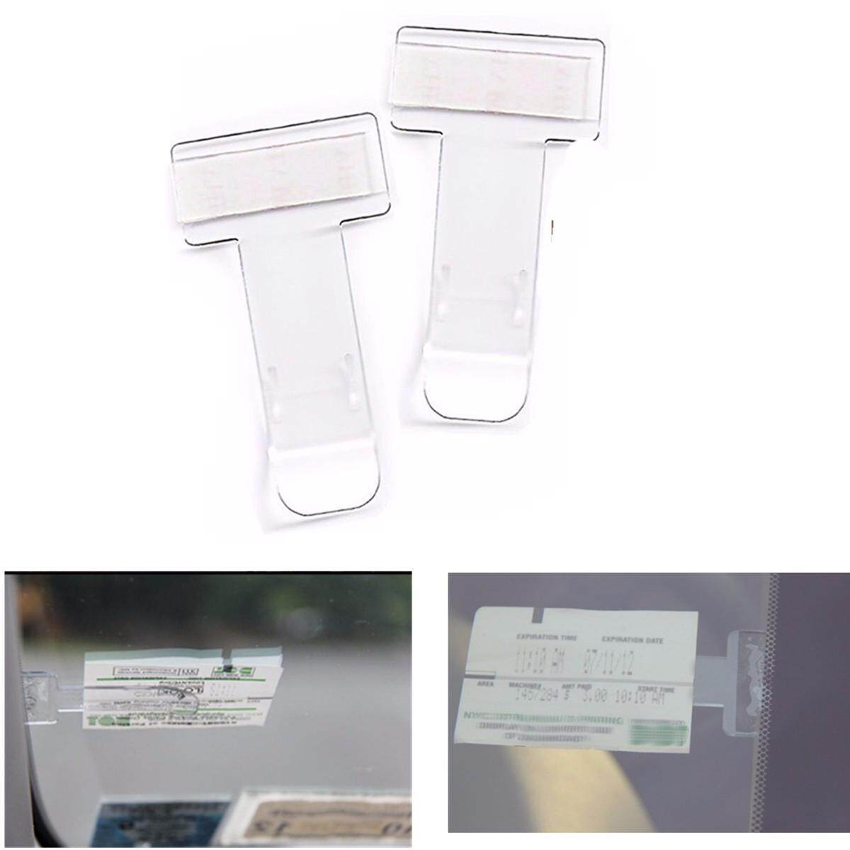 2pcs Car Vehicle Parking Ticket Permit Holder Clip Sticker Windscreen Window USA