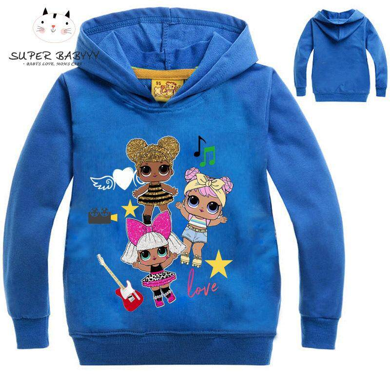 SBY Spring Autumn Children Hoodie Long Sleeve Printed Hooded Sweatshirt Girl Casual Outfit