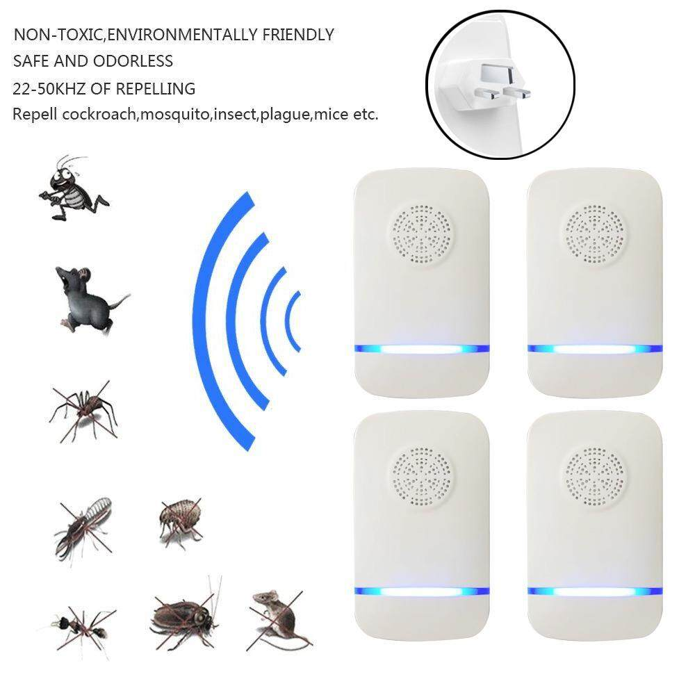 Pawaca Ultrasonic Pest Control Repeller, Electronic Repeller, Pest Repeller Plug In Ultrasonic For Insect - Mice, Mouse, Bed Bugs, Spiders, Mosquitoes, Roaches, Ants, Fleas, Human Pet Friendly - UK Plug - intl