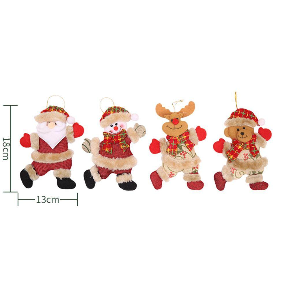 Santa Christmas Tree Hanging Home Decorative Cute Wood Sleigh Pendant Ornaments Gift Home Hanging Decorations Cute Snowman Aesthetic Appearance Diamond