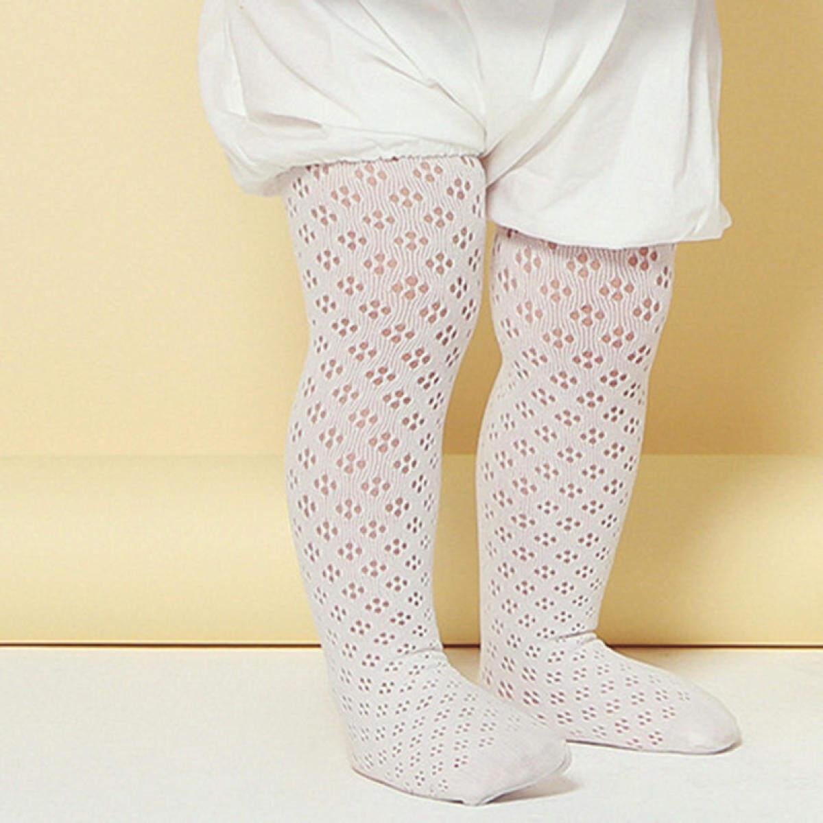 Chenxi Gaya Korea Musim Panas Bayi Celana Ketat Hollow Stoking Anak Perempuan Pantyhose Anak Putih Bayi