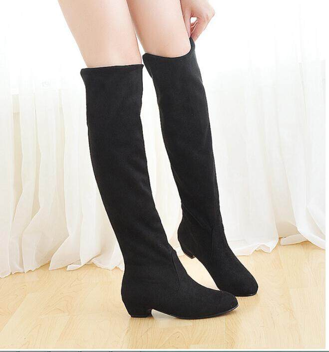 f47dff01aa7e Product details of Fashion Sexy Women Boots Autumn Winter Ladies Fashion  Flat Over Knee Long Boots Shoes