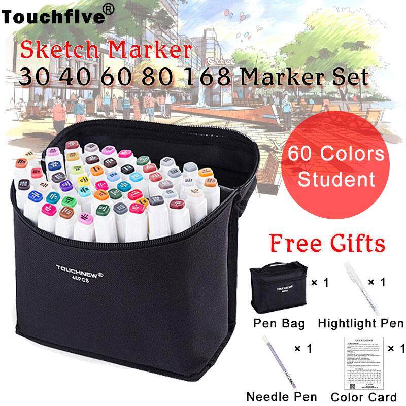 Special 2Pcs Cylinder Marker Animation Design Permanent Paint Sketch Marker Pens