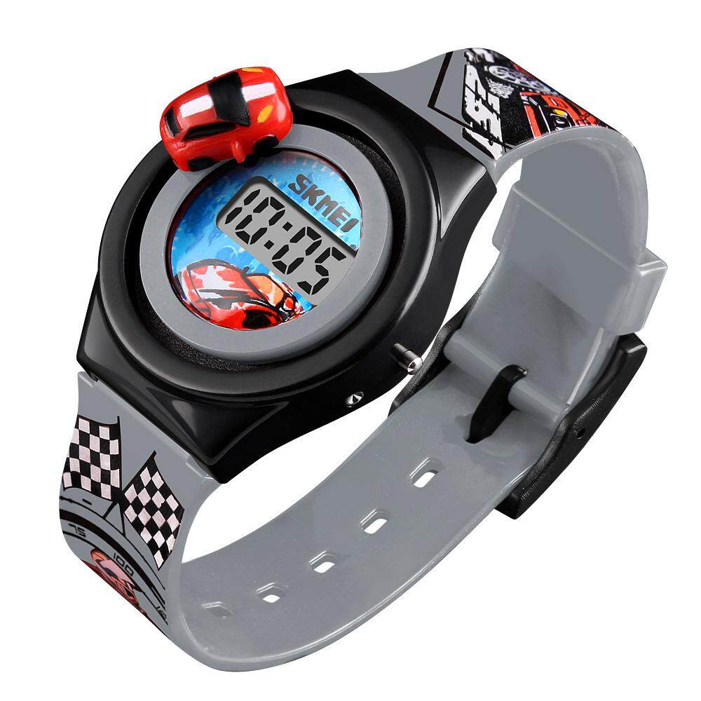 SKMEI 1376 Children Cartoon Creative Digital Watches Kids Fashion Car Outdoor Wristwatches For Boys Girls Student Casual Watch - intl