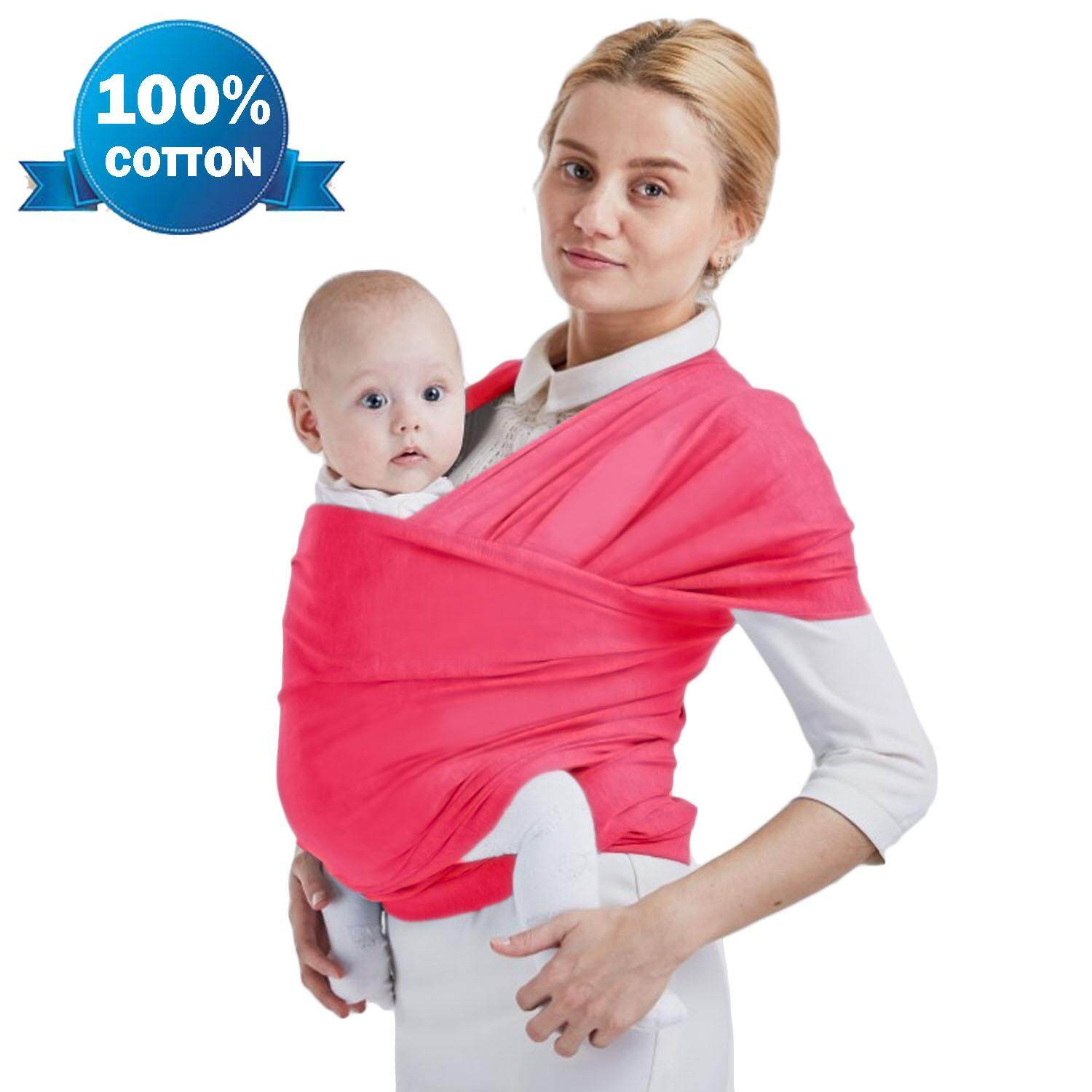 4b3d77fa999 Soft Cotton Adjustable Baby Sling Wrap Cover Carrier For Infants Up To 20kg  Rose Red