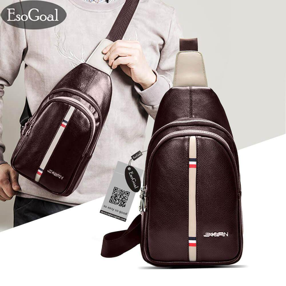 Buy Sell Cheapest Rs Sling Backpack Best Quality Product Deals Tas Selempang Anti Thief Water Proof Smart Crossbody Bag Men Mens Pu Leather Chest Shoulder Cross Body Purse