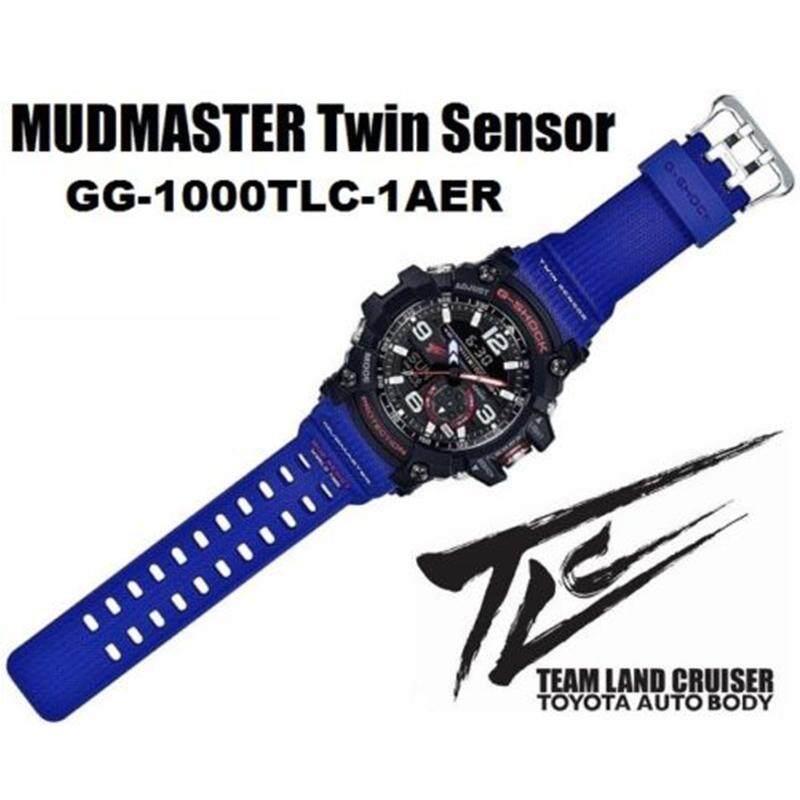 ยี่ห้อไหนดี  พัทลุง 【 STOCK】Original _ Casio_G-Shock GG-1000 MUDMASTER แถบสีน้ำเงินนาฬิกานาฬิกาสปอร์ทสำหรับผู้ชาย GG-1000TLC-1AJR