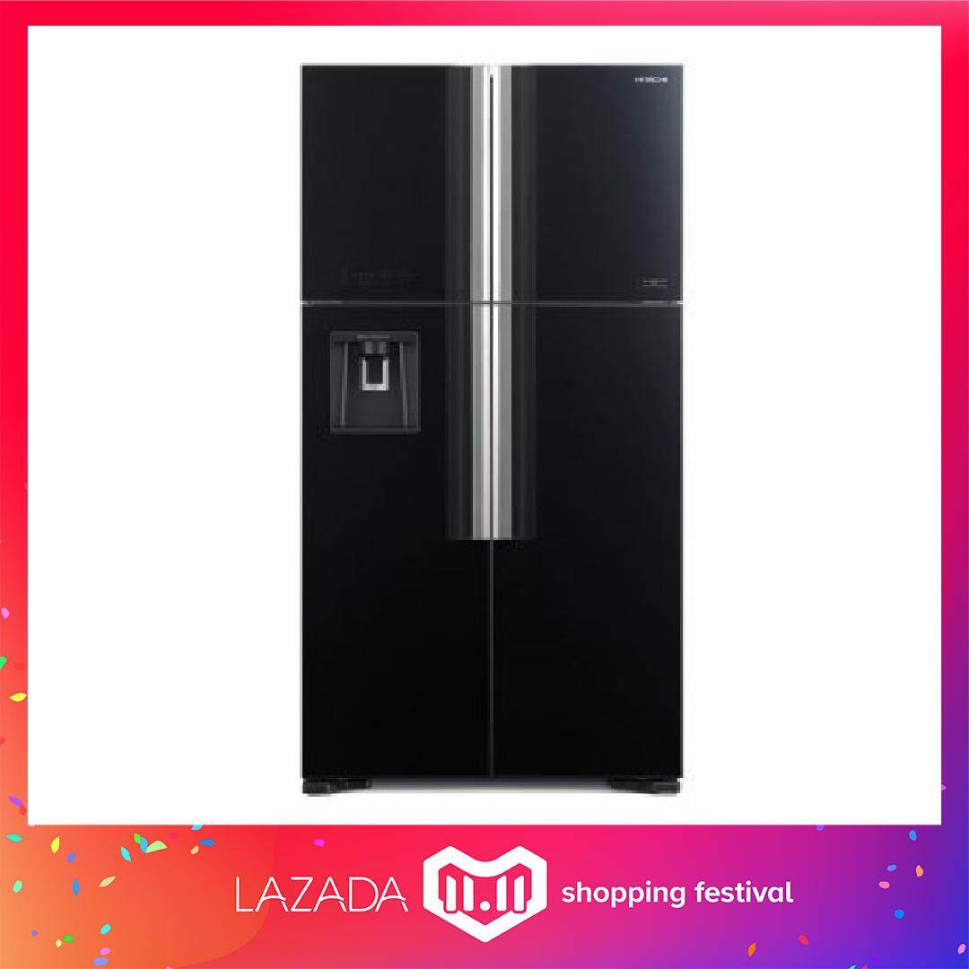 (AUTHORISED DEALER)HITACHI R-W720P7M 586L 4 GLASS DOOR BIG FRENCH REFRIGERATOR [only delivery within klang valley and selangor area) [confirm no dented worry]